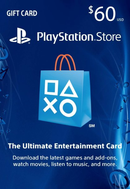 PSN Gift Card Code USA $60 for PS4, PS3, PS Vita