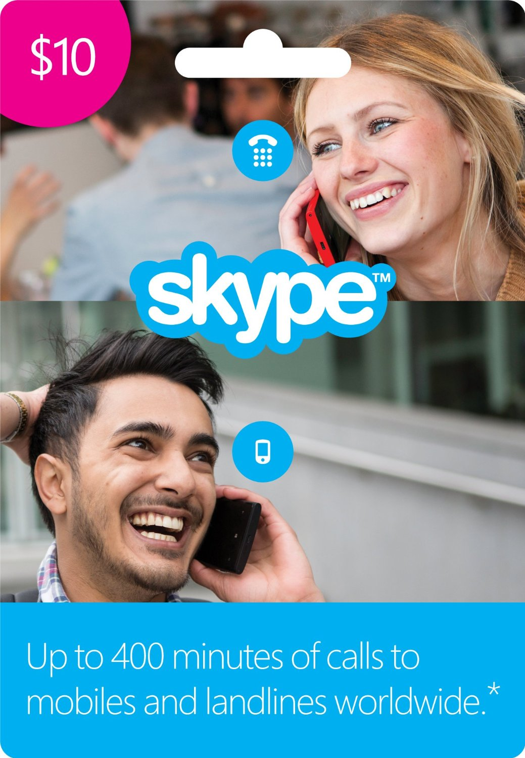 $10 Skype Credit Gift Card (GRAND SALE)