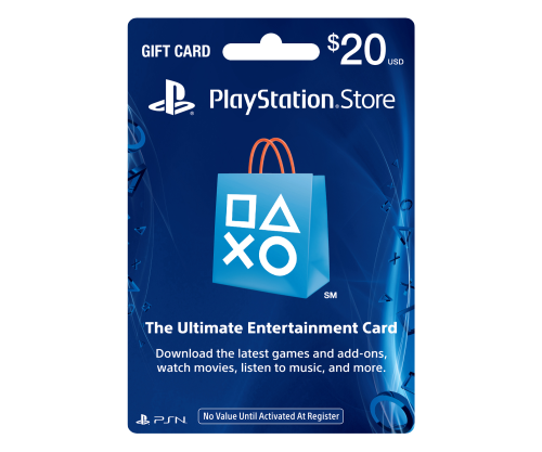 psn gift card code usa 20 for the ps4 ps3 ps vita. Black Bedroom Furniture Sets. Home Design Ideas