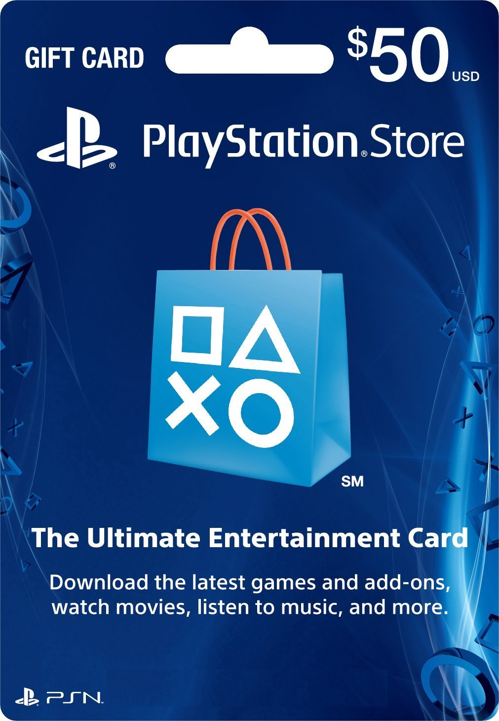 PSN Gift Card Code USA $50 for the PS4, PS3, PS Vita