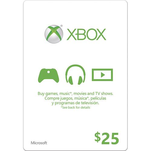 Xbox Live Gift Card USA $ 25 (code from card) + DISCOUN