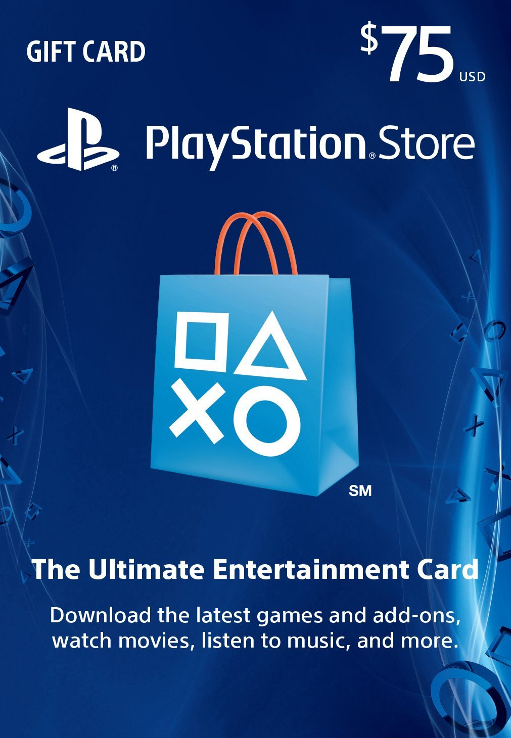 PSN Gift Card Code USA $75 for PS4, PS3, PS Vita