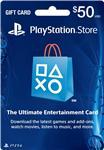PSN Gift Card Code USA $50 для PS4, PS3, PS Vita
