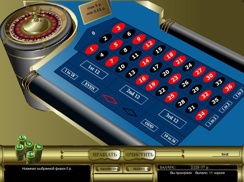 французская рулетка для казино масвет