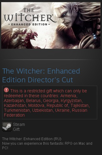 The Witcher: Enhanced Edition Director´s Cut (Steam RU)