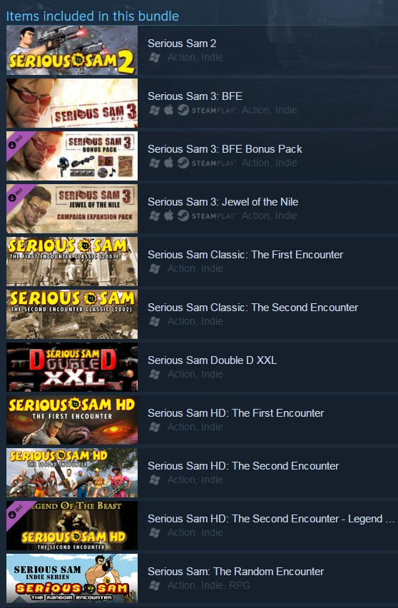 Serious Sam Complete Pack (Steam Gift/RU CIS)