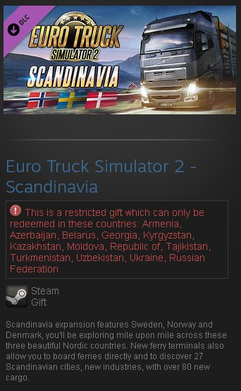zEuro Truck Simulator 2 - Scandinavia DLC (Steam|RU CIS