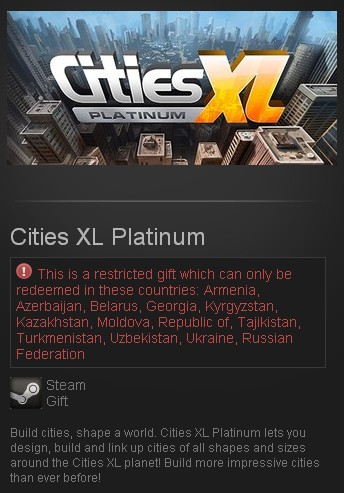 Cities XL Platinum (Steam Gift/RU CIS)