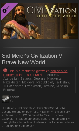 Sid Meier´s Civilization V: Brave New World DLC Gift RU