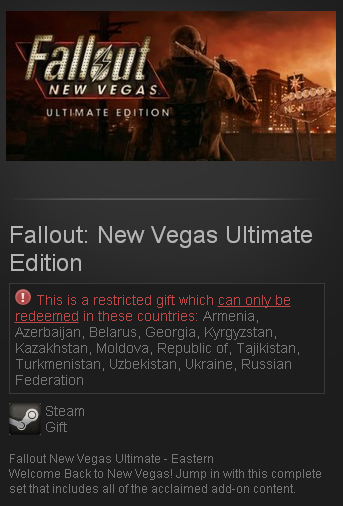 zFallout: New Vegas Ultimate Edition (Steam Gift / RU)