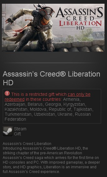 Assassin's Creed Liberation HD (Steam Gift/RU CIS)