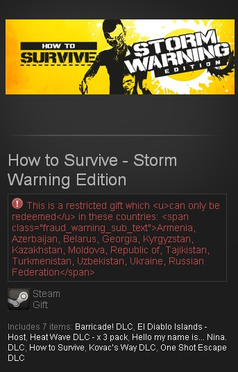 How to Survive - Storm Warning (Steam Gift/RU)