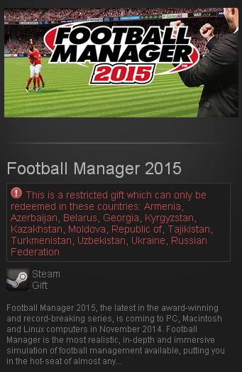 Football Manager 2015 (Steam Gift/RU CIS)