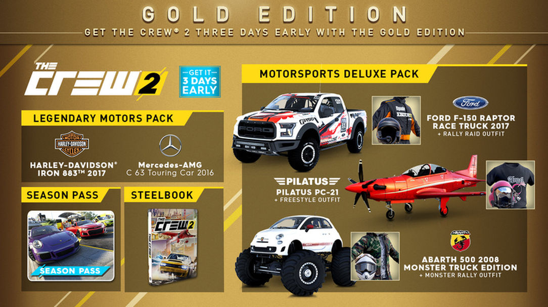 The Crew 2: Gold Edition and Preorder Bonus (UPLAY)
