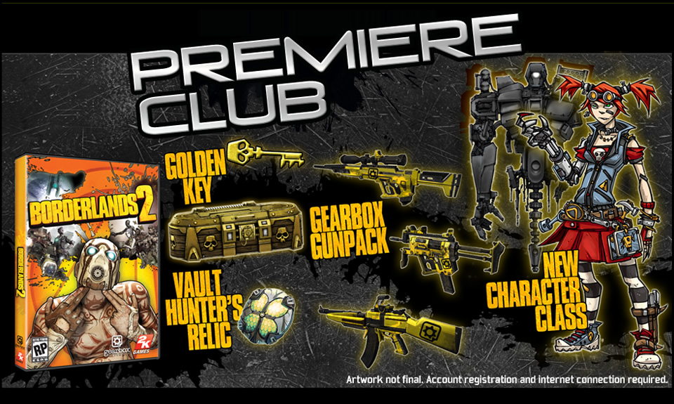 DLC Code: Premiere Club Edition для Borderlands 2