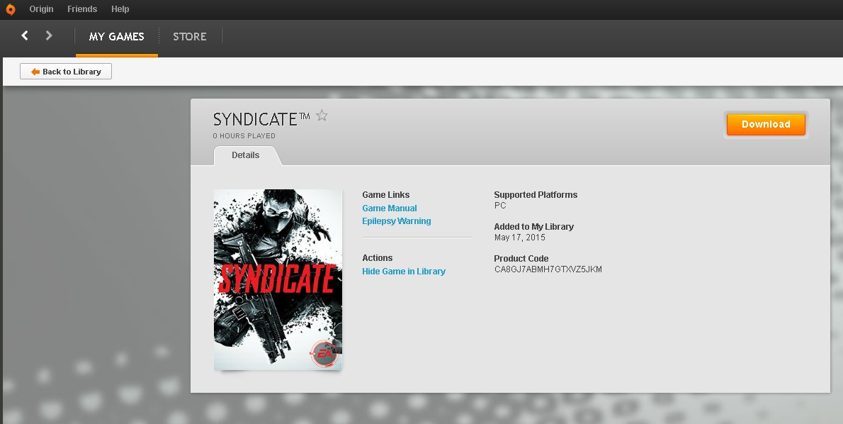 Syndicate (Origin account) Region free/Multilang