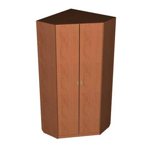 Проект углового шкафа с двумя дверями. 3d модели.