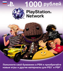 Playstation Network Card 1000: PSN 1000 рублей