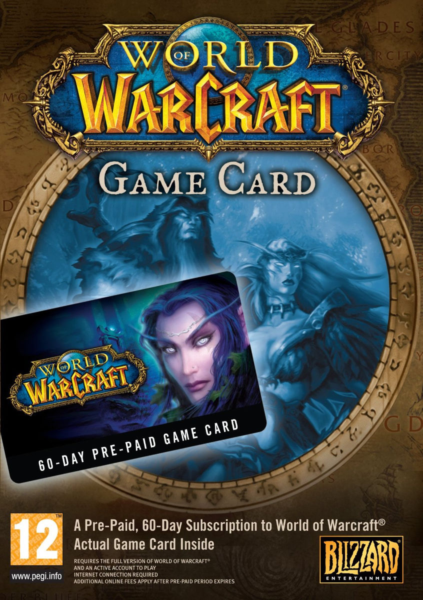 World of Warcraft WOW 60 Days Timecard EURO