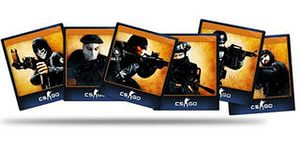 CS: GO - Set of 5 cards - ACTION