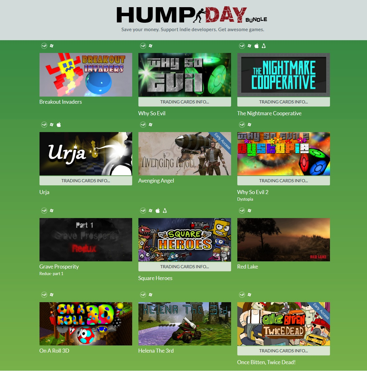 Indie Gala Hump Day Bundle 6 (12 steam ) Region Free