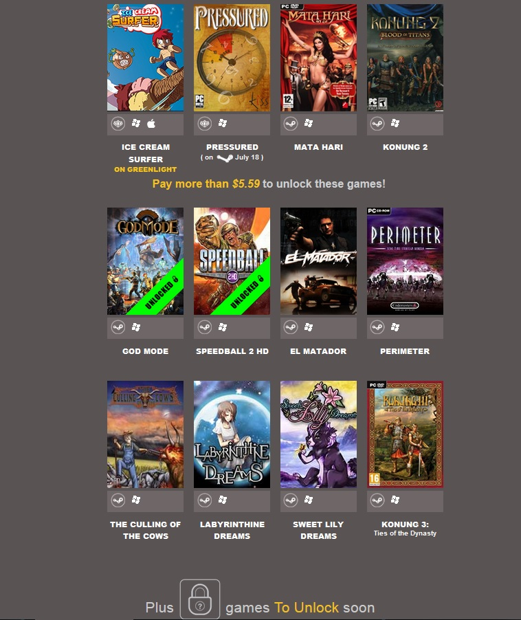 zIndie Gala Bundle July Madness (12 steam + 2 Desura)