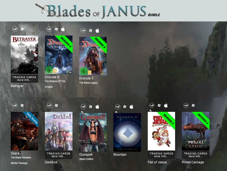 zIndie Gala Bundle Blades of Janus (9 steam игр Полный)