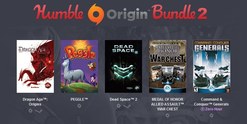Humble Origin Bundle 2 (5 Origin+ 2 Steam )