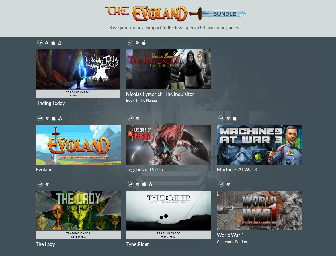 zIndie Gala The Evoland Bundle (8 Steam игр)