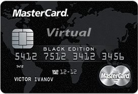 85 RUR MasterCard Virtual BlackEdition +Промокод