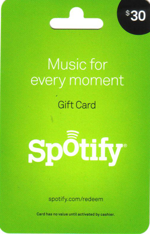30$ гифт карта для Spotify USA ! Gift Card Только у нас
