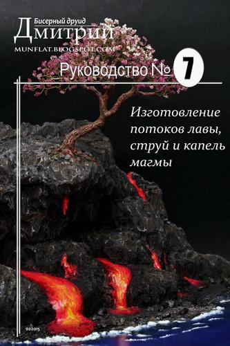 Изготовление потоков лавы, струй и капель магмы