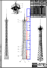 Searchlight towers of ICP 24 Assembly drawing URALTYAZHPROM