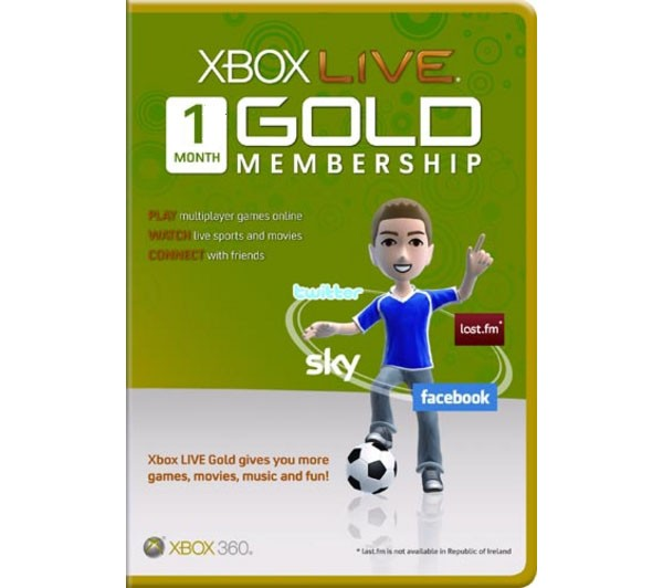 Xbox Live Gold 1 Month -World Wide (СКАН)