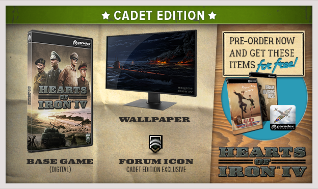 Hearts of Iron IV: Cadet Edition (Steam KEY) + GIFT