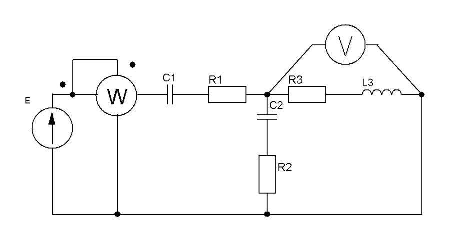 Для электрической цепи, схема