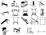 Чертежи и схемы для самостоятельного изготовления силовых тренажеров.