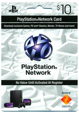 Playstation Network (PSN) $10 - USA + СКИДКИ
