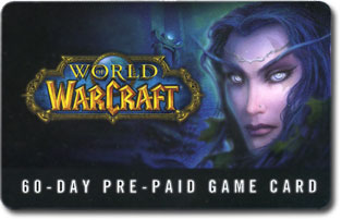 60 дней WOW  PrePaid Game Time Card (USA, СКАН) за $20