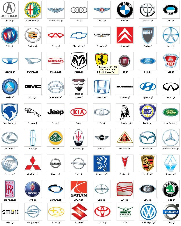 Значки модели автомобилей фото