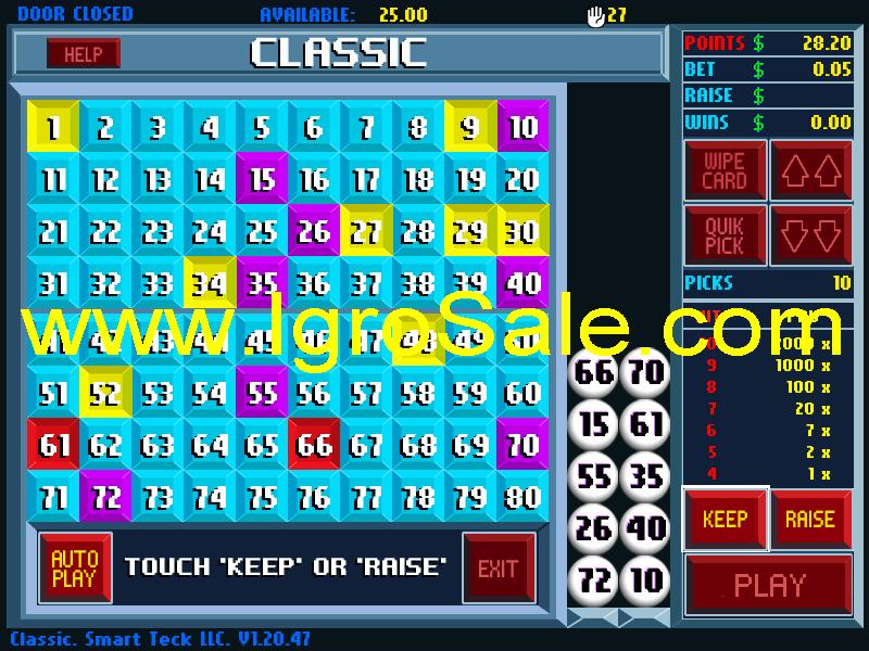 System keno software - Play casino game kaboom
