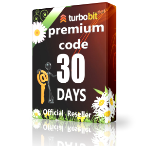 TurboBit premium code 30 days Immediately