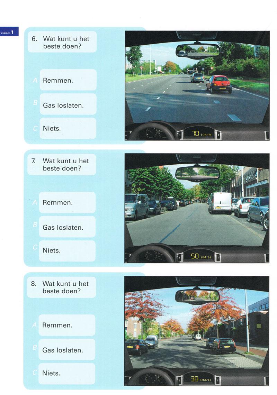 650 theorie examen oefenen auto rijbewijs B voor CBR