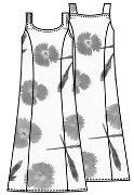 Выкройка платья в пол на тонких бретелях 154