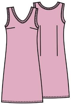 Выкройка платья простого покроя 100
