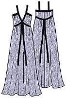Выкройка летнего платья для полных 010