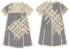 Выкройка расклешённого платья для девочки 029