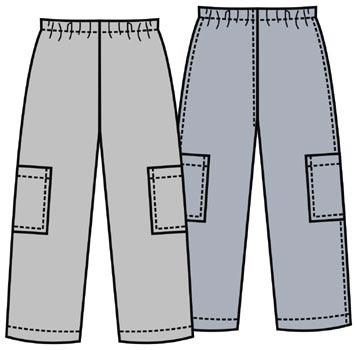 Выкройка детских брюк на резинке 081