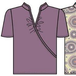 Выкройка блузки из трикотажа с воротником стойкой 176