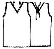 Выкройка топа с V вырезом и завязками 184